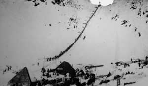 Chilkoot Pass during the gold rush